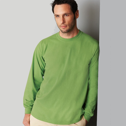 Gildan Mens Heavyweight Long Sleeve T-shirt - Premium Heavy Long ... 0a793c26b
