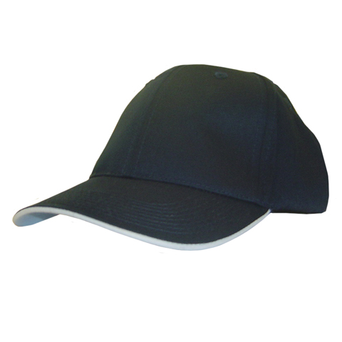 polo-shirts.co.uk 6 Panel Eco Sandwich Trim Baseball Cap