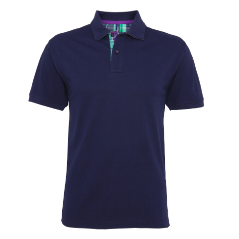 polo-shirts.co.uk Asquith & Fox Men's Check Trim Polo