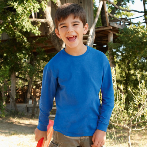 polo-shirts.co.uk Fruit of the Loom Children's Long Sleeve Valueweight T-Shirt