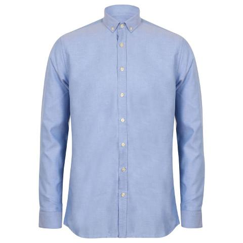 polo-shirts.co.uk Henbury Modern Long Sleeve Oxford Shirt (Slim Fit)