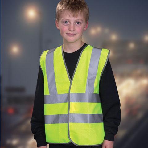 Work & Protective Clothing Yoko Children's Hi-Vis Waistcoat
