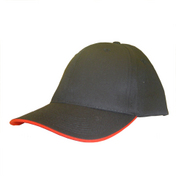 6 Panel Eco Sandwich Trim Baseball Cap