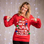 Adults 3D Baubles Light Up Jumper