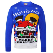 Adults 3d Santa Down Chimney Light Up Jumper
