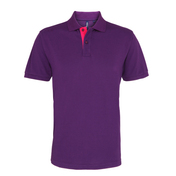 Asquith & Fox Men's Classic Fit Contrast Polo