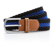 Asquith & Fox Two Colour Stripe Braid Stretch Belt