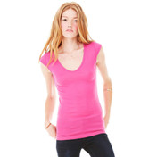 Bella Sheer Rib V-Neck T-Shirt
