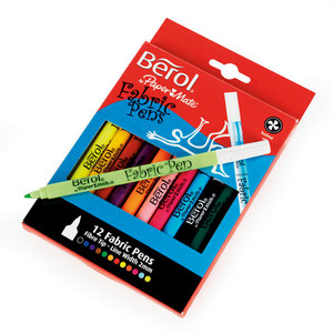 Berol Colour Fabric Marker Pack