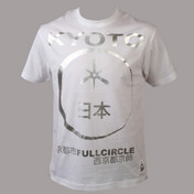 FULLCIRCLE Eclipse Crew Neck Short Sleeve Tee Shirt - White