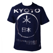 FULLCIRCLE Eclipse Crew Neck Short Sleeve Tee Shirt - Blue Steel