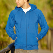 Fruit Of The Loom Men's Lightweight Hooded Raglan Sweat Jacket
