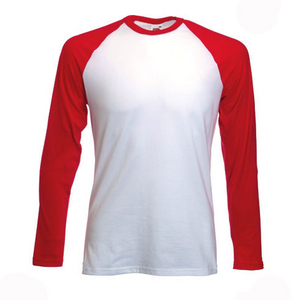 Fruit of the loom long sleeve baseball t shirt long for The red t shirt company