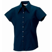 Russell Collection Women's Cap Sleeve Tencel Fitted Shirt