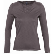 SOL'S Ladies Marais Long Sleeve Slub T-Shirt