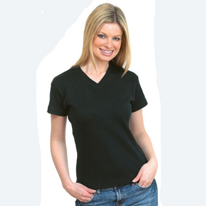 Uneek Ladies Premium V-Neck T-shirt