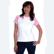 Uneek Ladies Raglan Short Sleeve T-Shirt