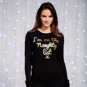 Women's Sequin I'm On The Naughty List Jumper