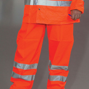 Yoko Hi-Vis Waterproof Contractor Trousers - Orange