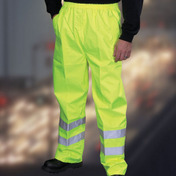 Yoko Hi-Vis Waterproof Contractor Trousers - Yellow