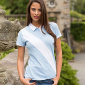 Front Row Ladies Diagonal Stripe Tagless House Cotton Polo Shirt